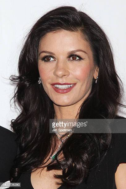 Actress Catherine Zeta Jones attends the 40th Anniversary Chaplin Award Gala at Avery Fisher Hall at Lincoln Center for the Performing Arts on April...