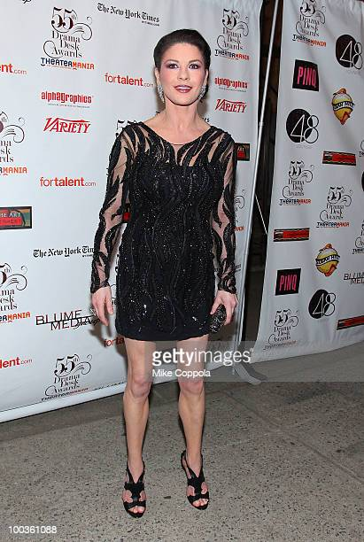 Actress Catherine ZetaJones arrives at the 55th Annual Drama Desk Awards at the FH LaGuardia Concert Hall at Lincoln Center on May 23 2010 in New...