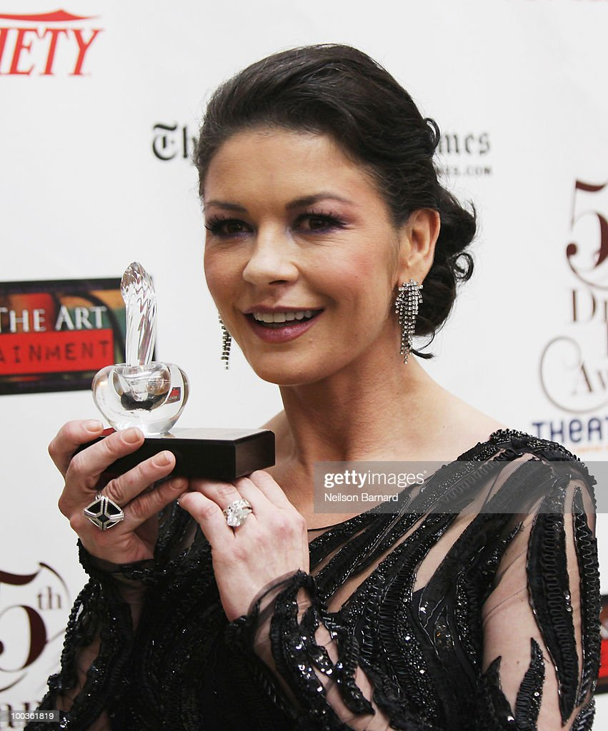 Actress Catherine Zeta-Jones arrives at the 55th Annual Drama Desk Awards at FH LaGuardia Concert Hall at Lincoln Center on May 23, 2010 in New York City.