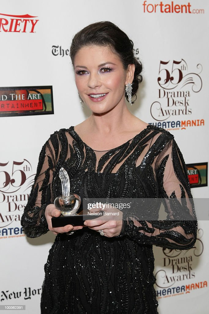 Actress Catherine Zeta-Jones arrives at the 55th Annual Drama Desk Award at FH LaGuardia Concert Hall at Lincoln Center on May 23, 2010 in New York City.