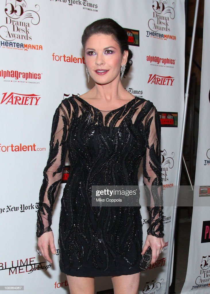Actress Catherine Zeta-Jones arrives at the 55th Annual Drama Desk Awards at the FH LaGuardia Concert Hall at Lincoln Center on May 23, 2010 in New York City.