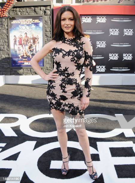 Actress Catherine ZetaJones arrives at the Los Angeles Premiere 'Rock Of Ages' at Grauman's Chinese Theatre on June 8 2012 in Hollywood California