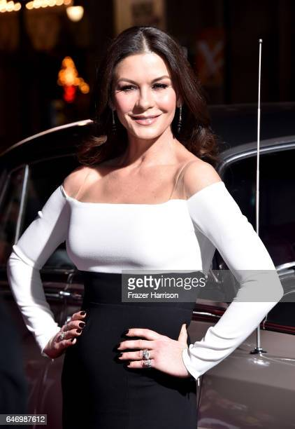 Actress Catherine ZetaJones arrives at the Premiere of FX Network's 'Feud Bette And Joan' at Grauman's Chinese Theatre on March 1 2017 in Hollywood...