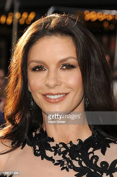 Actress Catherine ZetaJones arrives at the premiere of Warner Bros Pictures' Rock of Ages at Grauman's Chinese Theatre on June 8 2012 in Hollywood...