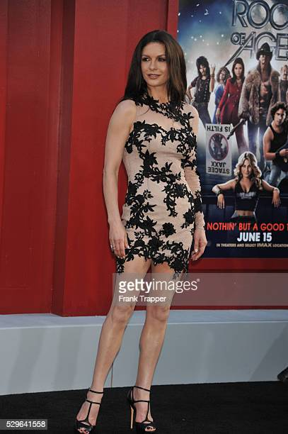 Actress Catherine ZetaJones arrives at the world premiere of Rock of Ages held at Grauman's Chinese Theater in Hollywood