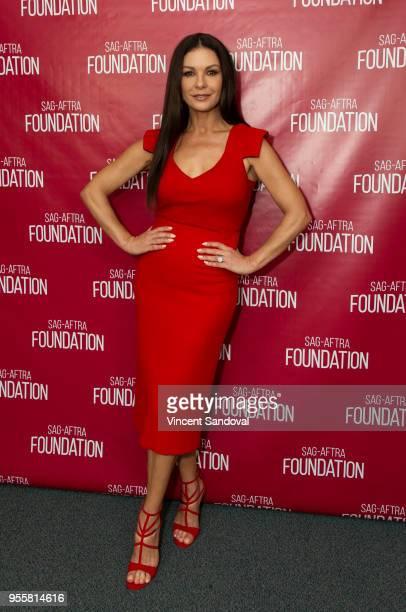 Actress Catherine ZetaJones attends SAGAFTRA Foundation Conversations screening of Cocaine Godmother at SAGAFTRA Foundation Screening Room on May 7...