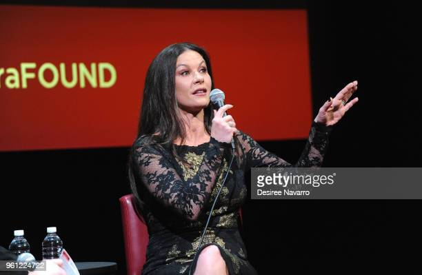 Actress Catherine ZetaJones attends SAGAFTRA Foundation Conversations 'Cocaine Godmother The Griselda Blanco Story' at The Robin Williams Center on...