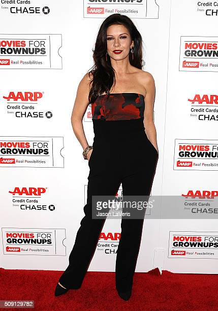 Actress Catherine ZetaJones attends the 15th annual Movies For Grownups Awards at the Beverly Wilshire Four Seasons Hotel on February 8 2016 in...