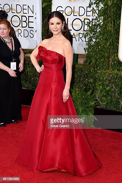 Actress Catherine ZetaJones attends the 72nd Annual Golden Globe Awards at The Beverly Hilton Hotel on January 11 2015 in Beverly Hills California