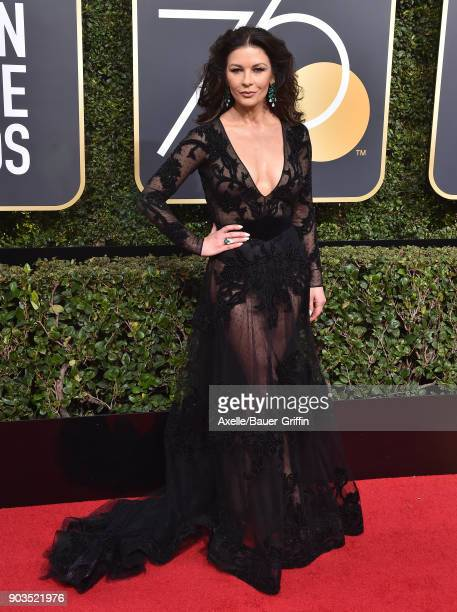 Actress Catherine ZetaJones attends the 75th Annual Golden Globe Awards at The Beverly Hilton Hotel on January 7 2018 in Beverly Hills California