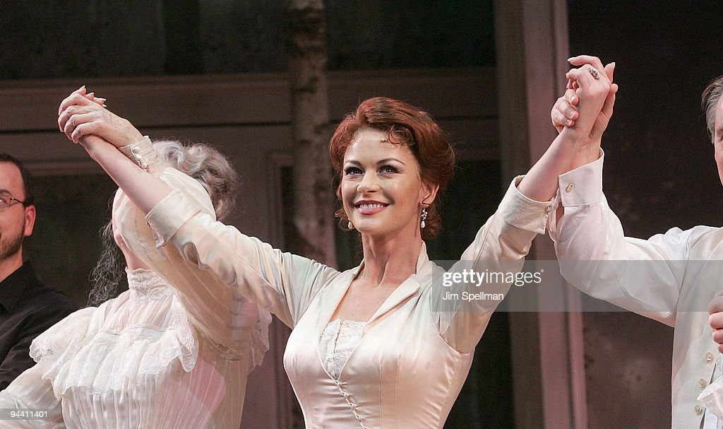 Actress Catherine Zeta-Jones attends the 'A Little Night Music' Broadway opening night at the Walter Kerr Theatre on December 13, 2009 in New York City.