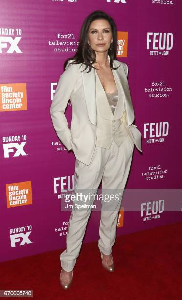 Actress Catherine ZetaJones attends the 'Feud Bette and Joan' NYC event at Alice Tully Hall at Lincoln Center on April 18 2017 in New York City