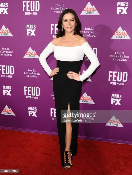 Actress Catherine ZetaJones attends the premiere of Feud Bette and Joan at TCL Chinese Theatre on March 1 2017 in Hollywood California