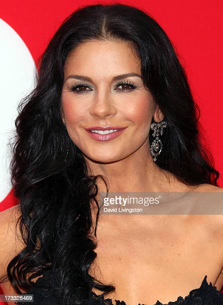 "Actress Catherine Zeta-Jones attends the premiere of Summit Entertainment's ""RED 2"" at Westwood Village on July 11, 2013 in Los Angeles, California."