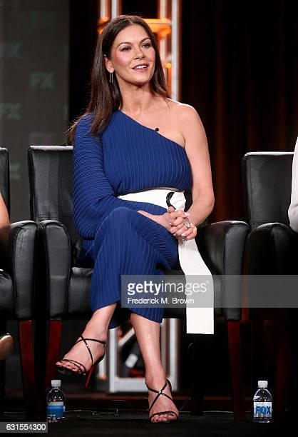 Actress Catherine ZetaJones of the television show 'Feud' speaks onstage during the FX portion of the 2017 Winter Television Critics Association...