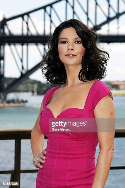 Actress Catherine ZetaJones poses during a media call for her latest film Death Defying Acts at the Sydney Opera House on March 10 2008 in Sydney...
