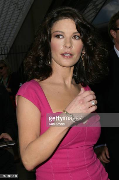 Actress Catherine Zeta-Jones poses for the media during a media call for her latest film `Death Defying Acts' at the State Theatre on March 10, 2008...
