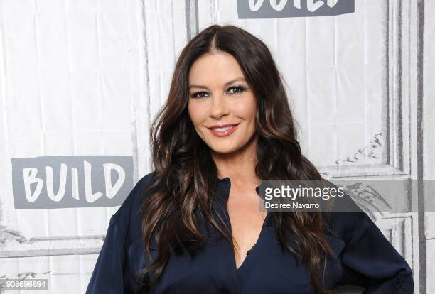 Actress Catherine ZetaJones visits Build Series to discuss TV movie 'Cocaine Godmother The Griselda Blanco Story' at Build Studio on January 18 2018...