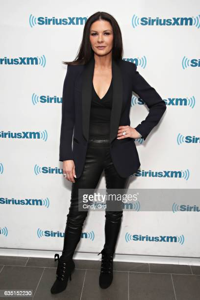Actress Catherine ZetaJones visits the SiriusXM Studios for the 'Town Hall' with the Cast of 'Feud' on February 13 2017 in New York City