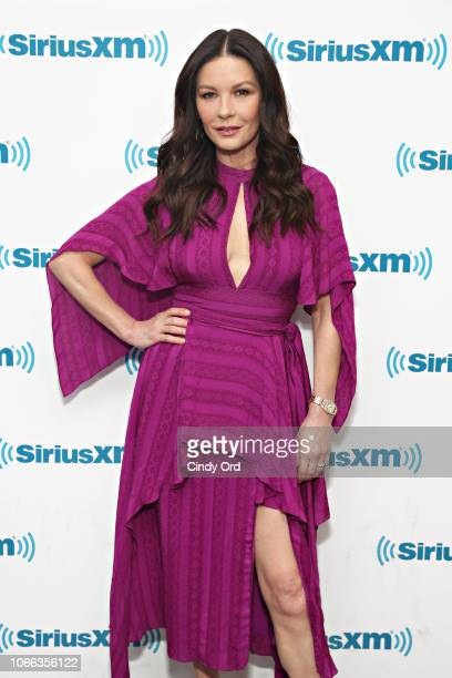 Actress Catherine Zeta-Jones visits the SiriusXM Studios on November 29, 2018 in New York City.