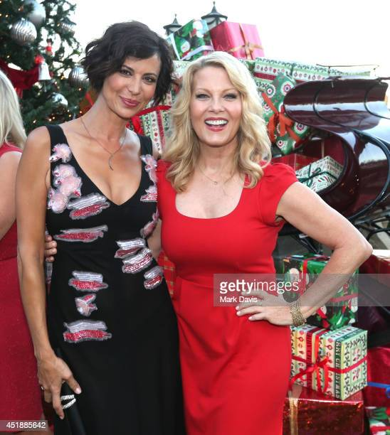 Actress Cathrine Bell and actress Barbara Niven attend the Hallmark Channel Hallmark Movie Channel's 2014 Summer TCA Party on July 8 2014 in Beverly...