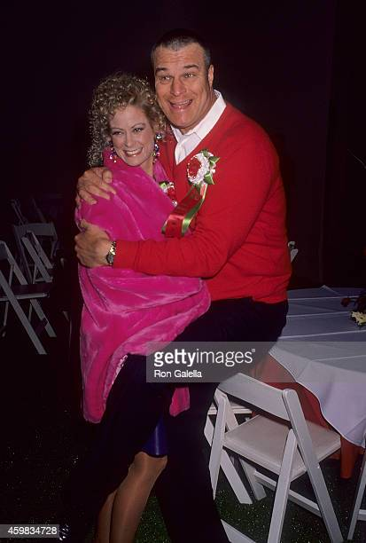 Actress Cathy McAuley and actor Richard Moll attend the 60th Annual Hollywood Christmas Parade on December 1, 1991 at the KTLA Studios in Hollywood,...