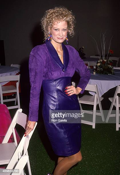 Actress Cathy McAuley attends the 60th Annual Hollywood Christmas Parade on December 1, 1991 at the KTLA Studios in Hollywood, California.