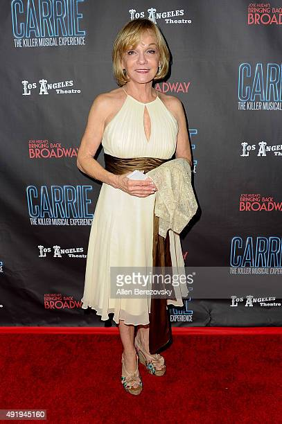 Actress Cathy Rigby attends the Carrie The Killer Musical Experience opening night red carpet at Los Angeles Theatre on October 8 2015 in Los Angeles...
