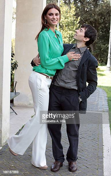 Actress Catrinel Marlon and actor / director Luigi Lo Cascio attend La Citta Ideale photocall at Casa del Cinema on April 9 2013 in Rome Italy