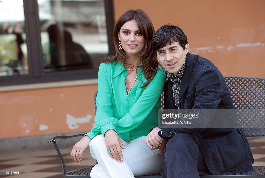 Actress Catrinel Marlon and actor / director Luigi Lo Cascio attend 'La Citta Ideale' photocall at Casa del Cinema on April 9, 2013 in Rome, Italy.