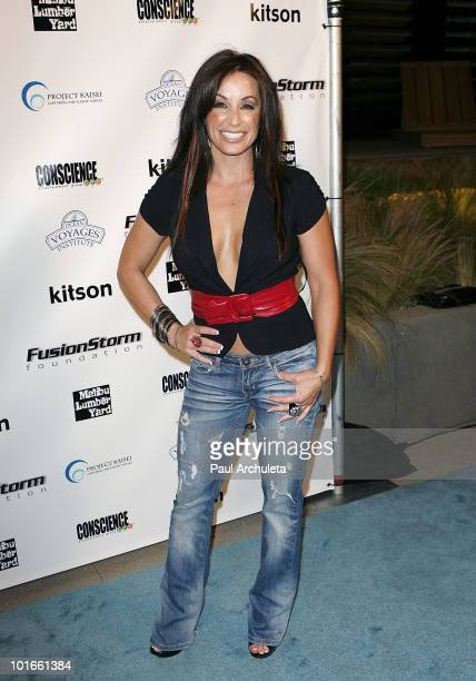 Actress CC Perkinson arrives at the 1st annual My Ocean Planet fundraiser benefitting project Kaisei at The Malibu Lumber Yard on June 5 2010 in...