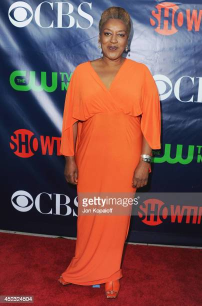 Actress CCH Pounder arrives at the CBS, The CW, Showtime & CBS Television Distribution 2014 Television Critics Association Summer Press Tour at...