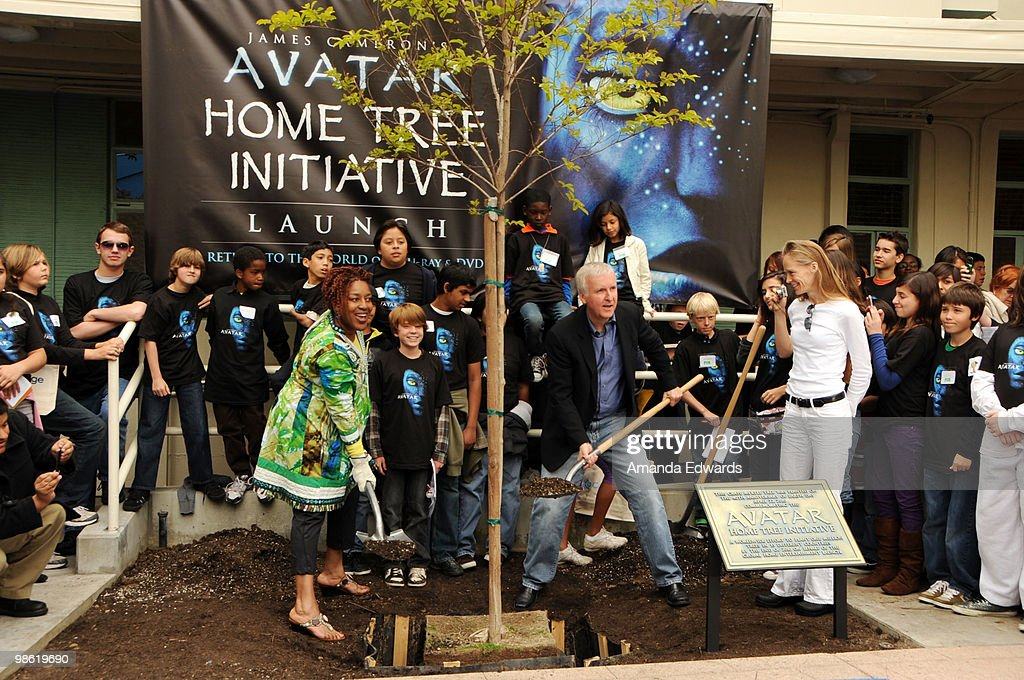 Actress CCH Pounder, James Cameron and Suzy Amis attend the 20th Century Fox & Earth Day Network's 'Avatar' Tree Planting Event on April 22, 2010 in Los Angeles, California.