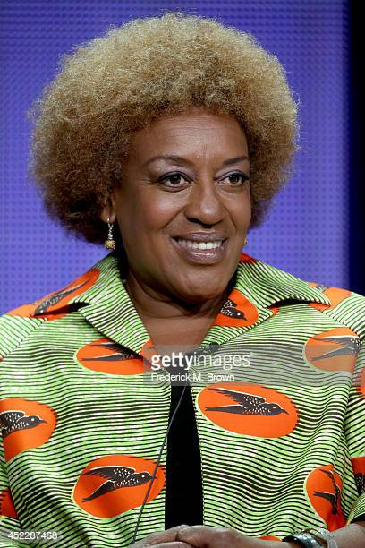Actress C C H Pounder speaks onstage at the 'NCIS New Orleans' panel during the CBS Network portion of the 2014 Summer Television Critics Association...