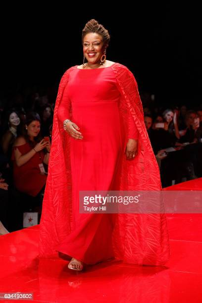 Actress CCH Pounder walks the runway during the Go Red for Women fashion show during Fall 2017 New York Fashion Week at Hammerstein Ballroom on...