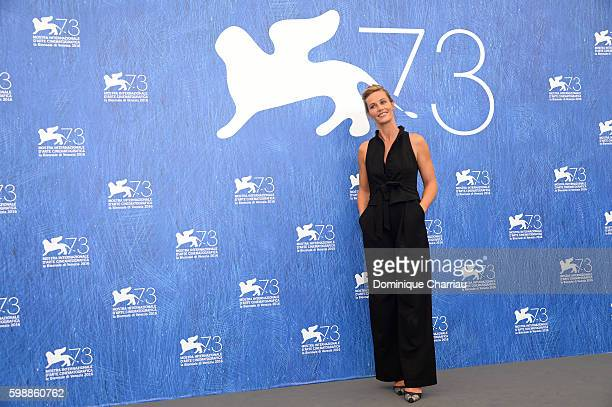 Actress Cécile de France attends the photocall of 'The Young Pope' during the 73rd Venice Film Festival at on September 3, 2016 in Venice, Italy.