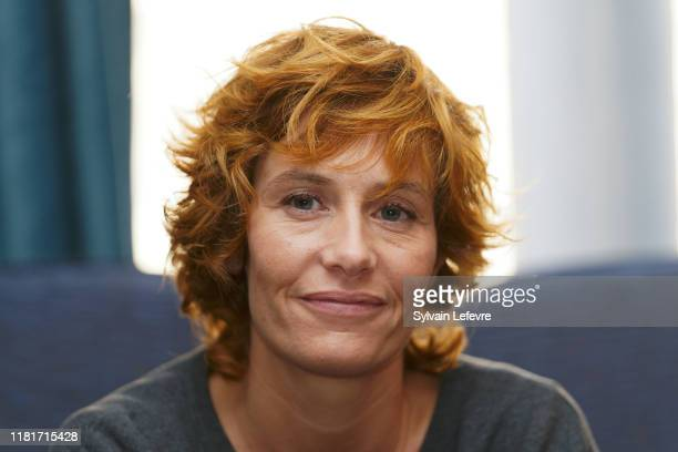 Actress Cécile De France attends the press conference for Un Monde Plus Grand premiere on October 17 2019 in Lille France