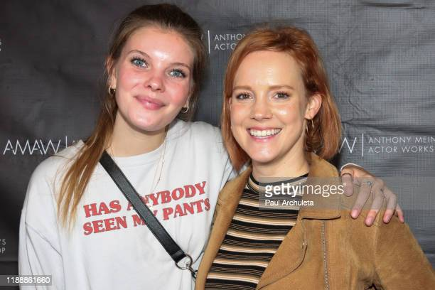 "Actress Cece Paige and Nina Rausch attend the screening of ""Where We Go From Here"" at AMAW Studios on November 19, 2019 in Los Angeles, California."