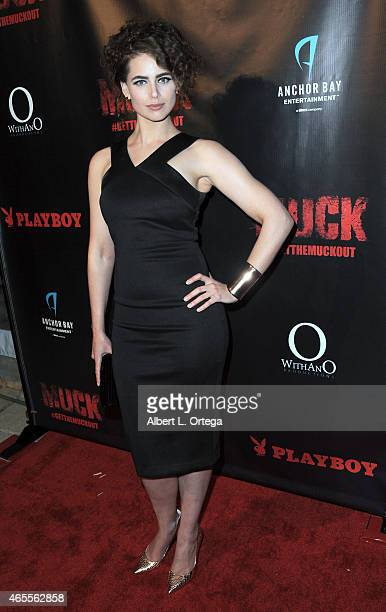 "Actress Cecelia Deacon at the ""Muck"" Premiere held at The Playboy Mansion on February 26, 2015 in Los Angeles, California."