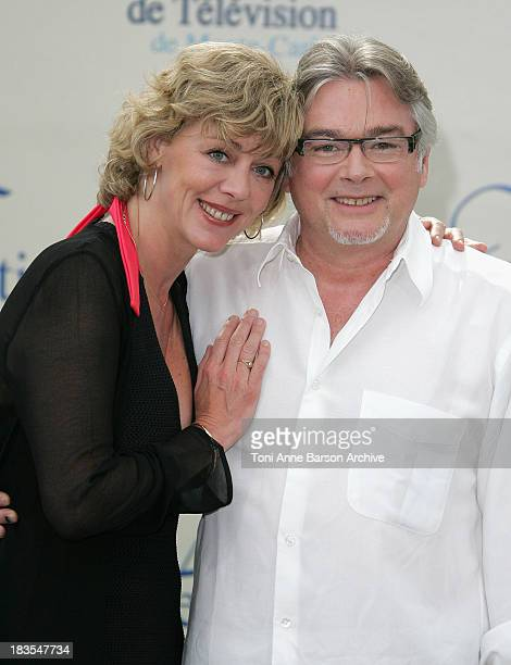 Actress Cecile Auclert and actor Christain Rauth attend a photocall promoting the television series 'Pere Maire' on the fifth day of the 2008 Monte...