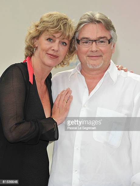 Actress Cecile Auclert and actor Christian Rauth attend a photocall promoting the television series Pere Maire on the fifth day of the 2008 Monte...
