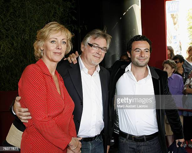 Actress Cecile Auclert and Christian Rauth arrives at the TF1 annual press conference held at the Olympia on August 29 2007 in Paris France Photo by
