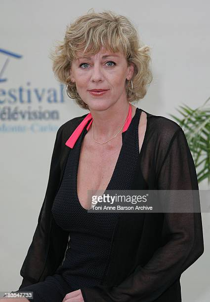Actress Cecile Auclert attends a photocall promoting the television series 'Pere Maire' on the fifth day of the 2008 Monte Carlo Television Festival...