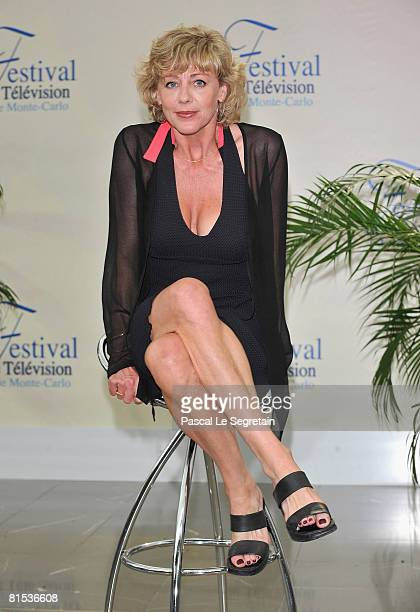 Actress Cecile Auclert attends a photocall promoting the television series Pere Maire on the fifth day of the 2008 Monte Carlo Television Festival...