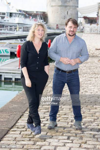 Actress Cecile Bois and Actor Thierry Godard attend 'Meurtres a Sarlat' Photocall during the 19th Festival of TV Fiction at La Rochelle on September...