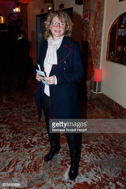 Actress Cecile Bois attends 'Depardieu Chante Barbara' at 'Le Cirque D'Hiver' on November 11 2017 in Paris France