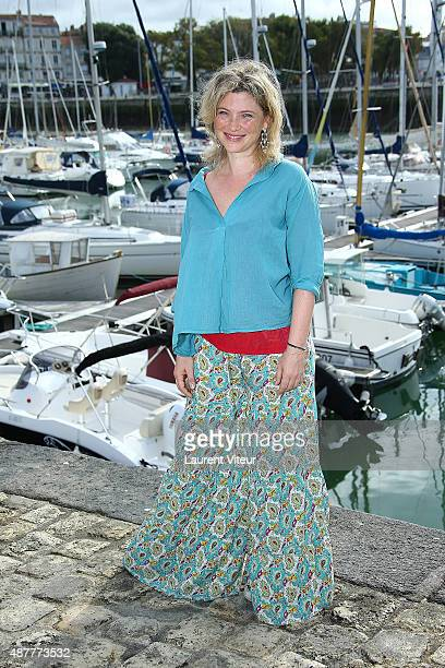 Actress Cecile Bois attends the 'Mystere A La Tour Eiffel' Photocall during the 17th Festival of TV Fiction At La Rochelle on September 11 2015 in La...