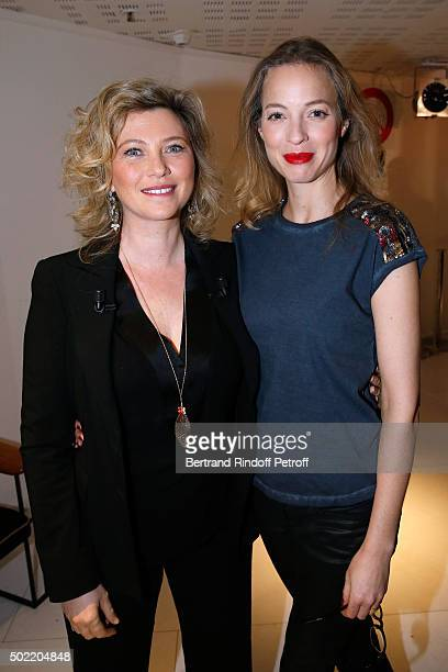 Actress Cecile Bois presents the TV Series 'Candice Renoir' and Actress Elodie Frenck presents the TV Series 'Cherif' during the 'Vivement Dimanche'...
