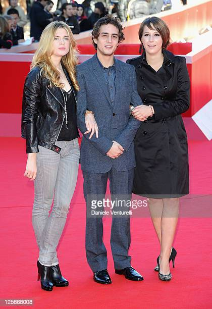 Actress Cecile Cassel actor Benjamin Siksou and director Audrey Estrougo attend the 'Leila' Premiere during the 5th International Rome Film Festival...
