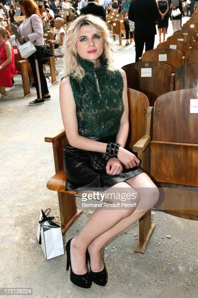 Actress Cecile Cassel attends the Chanel show as part of Paris Fashion Week HauteCouture Fall/Winter 20132014 at Grand Palais on July 2 2013 in Paris...